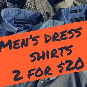 Other - 2 for $20 Dress shirts